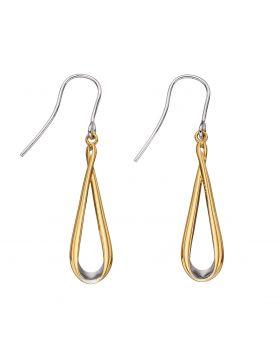 Mixed Metal Ribbon Earrings (E5803)