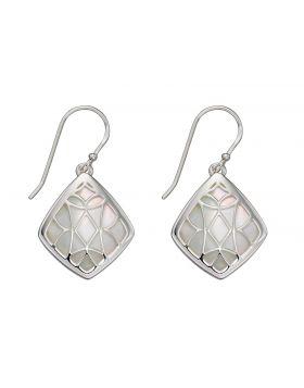 Mother of Pearl Trellis Earrings (E5810W)