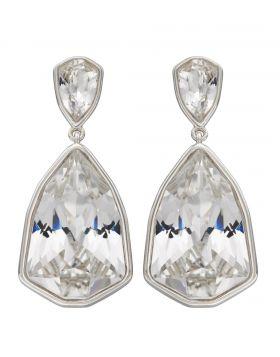 Trilliant Shape Crystal Drop Earrings (E5825C)