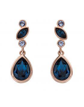 Multi Stone Blue Crystal Drop Earrings (E5829L)