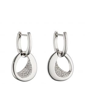 Assembled Hoop Earrings With CZ (E5834C)
