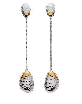 Pebble Hammered Drop Earrings (E5837)