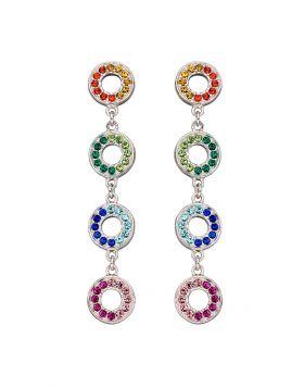 Rainbow Open Disc Earrings (E5838)