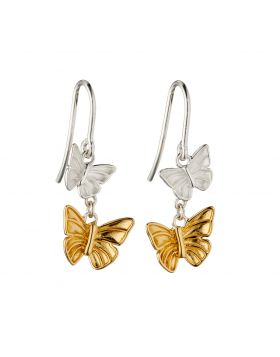 Butterfly Earrings With Yellow Gold Plating (E5844)