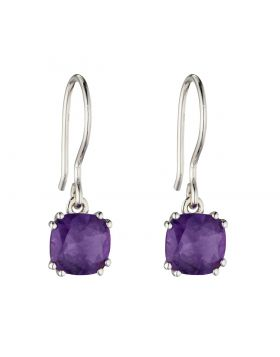 Amethyst Cushion Earrings (E5848M)