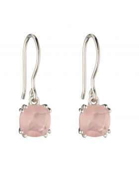 Rose Quartz Cushion Earrings (E5850P)