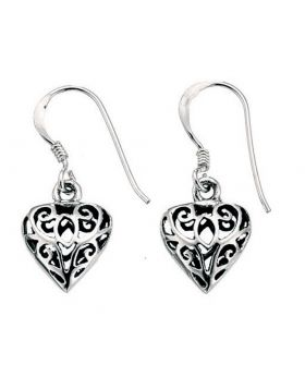 E726 Filigree Heart EARRING