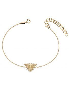 Yellow Gold Bee Bracelet (GB481)