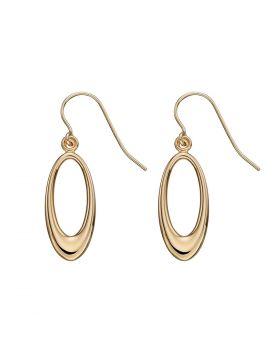 9ct Yellow Gold Open Oval Earrings