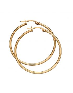 9ct Yellow Gold 30mm Hinged Hoops