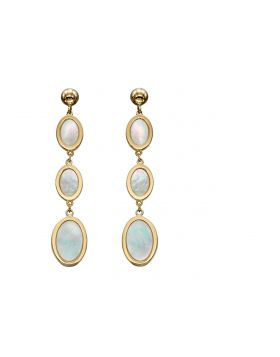 Oval Mother of Pearl Earrings (GE2266W)