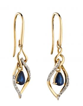 Sapphire and Diamond Marquise Earrings (GE2274L)