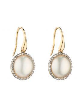 Mabe Pearl and Diamond Earrings (GE2287W)