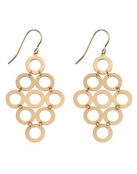 Multi Circle Drop Earrings (GE2313)