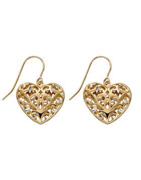 Filigree Heart Earrings (GE2315)