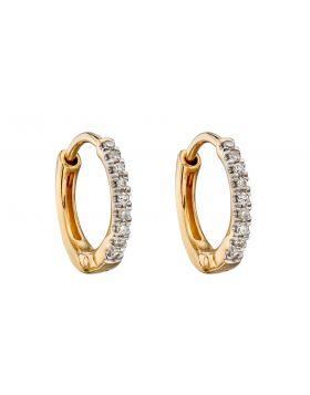 Diamond Huggie Earrings 10mm (GE2320)