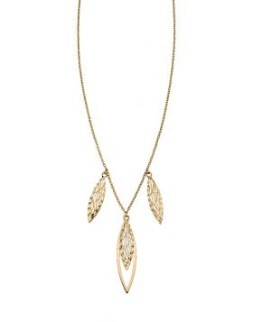 Overlapping Filigree Necklace (GN327)