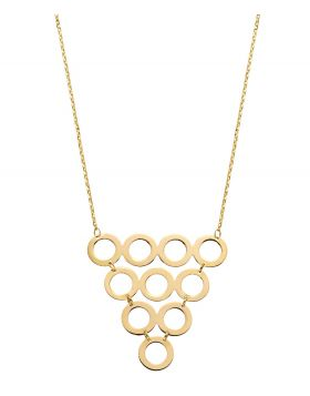 Multi Circle Necklace (GN343)