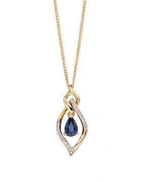 Sapphire and Diamond Marquise Pendant (GP2157L)