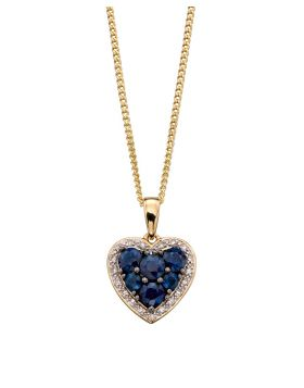 Sapphire and Diamond Heart Pendant (GP2166L)