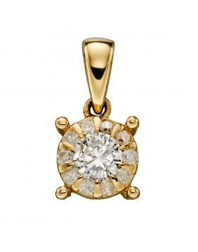 Gold April Birthstone Pendant (GP2169)