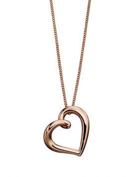 Rose Gold Organic Heart Pendant (GP2174)