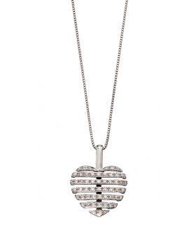 Split Diamond Heart Pendant (GP2179)