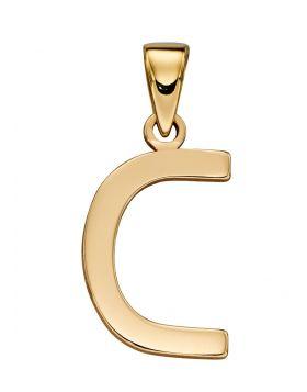 Gold Letter 'C' Pendant (GP2202)