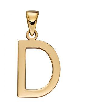 Gold Letter 'D' Pendant (GP2203)