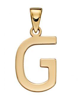 Gold Letter 'G' Pendant (GP2206)