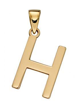 Gold Letter 'H' Pendant (GP2207)