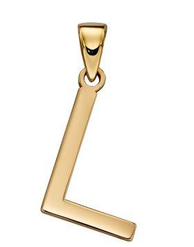 Gold Letter 'L' Pendant (GP2211)