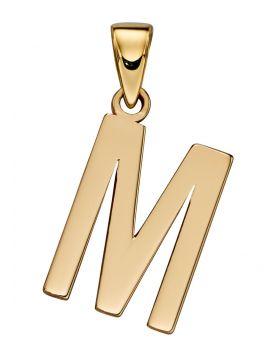 Gold Letter 'M' Pendant (GP2212)