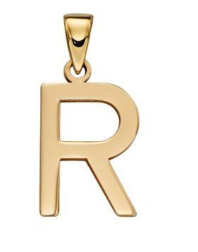 Gold Letter 'R' Pendant (GP2216)
