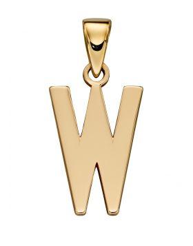 Gold Letter 'W' Pendant (GP2221)