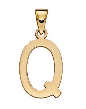 Gold Letter 'Q' Pendant (GP2224)