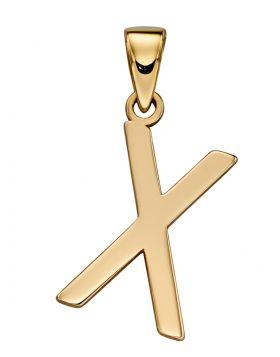 Gold Letter 'X' Pendant (GP2225)