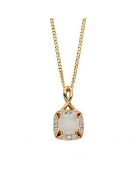 Opal and Diamond Pendant (GP2233W)