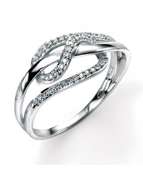 GR288 9ct WHT DIA Pave Loop RING