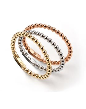 GR463 9ct TRI Ball Stacking RING
