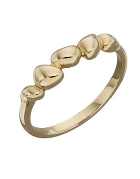 Yellow Gold irregualr oval shape ring