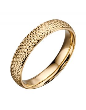 Textured Yellow Gold Ring (GR557)