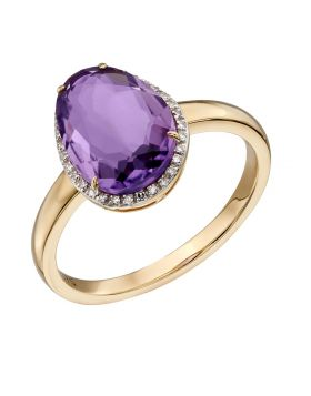 Organic Shaped Amethyst Ring (GR558M)