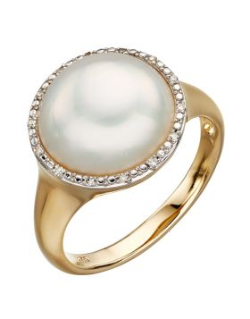 Mabe Pearl and Diamond Ring (GR560W)