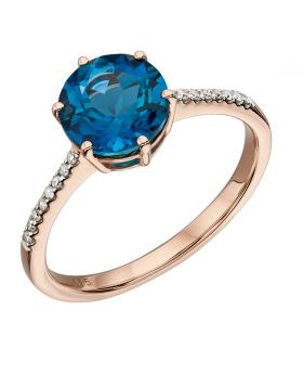 London Blue Topaz  Ring (GR561L)