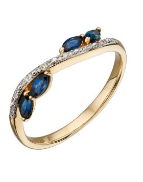 Sapphire and Diamond Marquise Ring (GR562L)