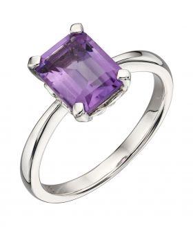 Amethyst Rectangle Ring (GR564M)