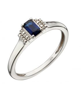 Sapphire and Diamond Deco Ring (GR566L)