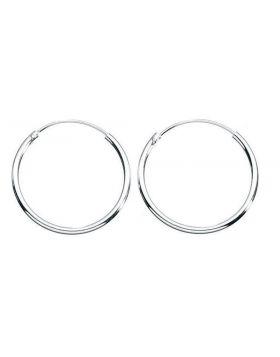 17mm Plain Hoop Earrings (H036)