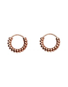 H240 ROSE GOLD PLATE Coil HOOP